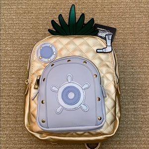 Mini metallic Spongebob Pineapple backpack